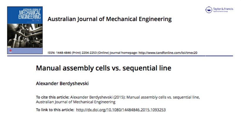 Manual assembly cells vs. sequential line