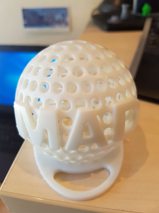 3D printed sample (stereolithography)